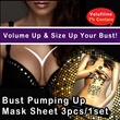 ★Bust pumping-up mask sheet★ One Step Total Bust Care/3 pcs for 1 week program/ The best solution for gramous bust!