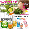 [Qxpress Free][100% Quality Guarantee]New Slimming Weight Loss Health Water Bottle Lemon Fruits Vitality Manual Juicer Cup Bottle-Kids Bottle and Stickers Arrival-No BPA-Buy 1 Get 1 Free Brush