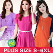 NO PROFIT!!2014 New Arrivals High Quality Fashion Style Plus Size/Figure Flattering/Dress/Blouse/Plus Size S To 6XL