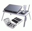 Meja Laptop Portable Lipat (LAPTOP PORTABLE DESK) + Cooling Pad merek E-TABLE