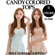 Candy Colored Tops (6 Colors) S-L Sizes