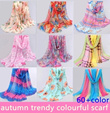 All 60 + color richness! ♪ ♪ autumn trendy colourful scarf ★various design★★(Buy 4 Free Shipping!!)♪ thin richness