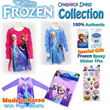 ★Hot Sale!!!★Frozen Kids Girls Elsa Anna Long Sleeve Onepiece Dress Made in Korea + Frozen Epoxy Sticker 1pcs Disney Officially Licensed Products olaf halloween costume