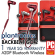 [Plantronics] Backbeat Go 2☆Local Set☆ONE Year Local Warranty☆Black/White/Red☆100% Original☆Bluetooth Wireless Stereo Headset
