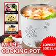 ★BEST PRICE SGD11.4★Electric Portable Boiler/Multi Cooking Pot Electronic Cooker Noodle Pot/HOT POT