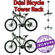 Dual Bicycle Ceiling Stand Dual Bike Tower Rack up to 4 Meters Lightweight