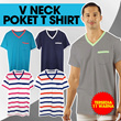 [BRANDED MAN TOPS] NEW ARRIVAL FORM PARIS BRAND! Moving out sale -70% off-Men T-shirts *V neck* POKET T shirt