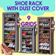 [HOT ITEM] SHOE RACK WITH DUST COVER 9 GRIDS