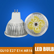 Wholesale 10pcs/lot 4W GU10 E27 E14 MR16 LED Spot Light LED Bulb lamps Warm White Environmental Bulbs Durable Aluminum Alloy for Pub Exhibition Office Home