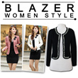 Stylish Crop Blazer_Office Look_PREMIUM Quality_V-neck long sleeve Blazer Suit Jacket Coat_2Style_4 Color