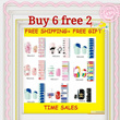 BUY 6 GET 2 FREE ! 2014 LATEST DESIGNS★Nail Foils★Nail Stickers★Nail Patch★♥Hello kitty BEAR POSH Suitable for Pregnant Mum and Kids Cheapest in Q0010 ETc