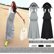 MM28 新作!セール!カジュアルなタンクトップドレス、つりスカート、ロングスカート、ゆったりドレス、ワンピース、カート