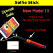 Selfie Stick / Monopod with Built-in Remote Control Shutter Extendable  + Holder For Smart Phone/Camera iPhone Android - Local No Hidden cost
