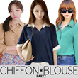 KOREAN STYLE ★ PREMIUM CHIFFON Blouse Part2 / Design by Korea / Made in China / Premium Chiffon Material