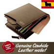B type Restock! Top Quality Genuine Leather Mens wallets /bag/bags/100% waterproof/luggage/wallet
