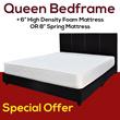 Queen Mattress + Queen Bedframe Set / Bed with Frame