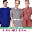 NO PROFIT!!2014 New Arrivals High Quality Fashion Style Big Size/Figure Flattering/Dress/Blouse/Plus Size S To 6XL