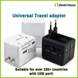 [WP118U] Universal Travel adaptor (adapter) / International power plug / All in one / USB port