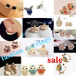 [New Arrival] ♡ SALE ♡100 + type  ♪the talk of  magazine♥ cute earrings  Western / Japan / Korea style accessories ♥fashion earrings♥(pay 1 shipping fee for 7 pairs!)