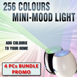 *4PCs PROMO with FREE SHIPPING!!* 256Colours Mini-Mood Light - Add colours to your home
