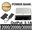 Power Bank 30000mAh 20000mAh 12000mAh Battery Portable dual USB Port blackberry Galaxy s3 s4