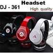 Brand New Yongle DJ-361 Fashionable Foldable Earphone High Definition Hi-Fi Deep Bass Stereo Over-Ear Headphone Headset for iPhone Samsung For HTC MP3 etc