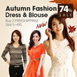 New autumn and summer fashion style big size/figure flattering/ dress/ T shirt/blouse/plus size S to