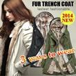 2014 New Listing!!Korean Style Winter Coats/3WAY Type Winter Jacket/Fur Jacket/Ladies Outerwear/Best-Selling