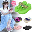 [Buy 2 Free Shipping]2014 HOT SALE!Fashion Women's Platform Heels Slippers Beach Sandals/Silk Floral Strap Slippers/Sequined Platform Shoes/Home Shoes/Comfortable Summer Slippers