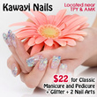 $22 Classic Manicure and Pedicure + Glitter + 2 Nail Arts at Kawayi Nails in 2 Locations(Worth $75)