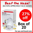 [High PSI Readings] 3M N95 Approved Face Masks - Beat the Haze