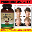 LIFETIME Supreme Vital Hair / With MSM / Dietary Supplement / Yeast Free / Sugar Free / Promote Thicker And Healthier Hair / Nourish Hair And Scalp / 120 Capsules / Made In USA *READY STOCK