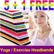 BUY 5 GET 1 FREE !!! Elastic Headbands for Yoga / Exercise / Sports / Facial / Spa (6 Colours)