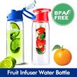 Portable Fruit Infuser Water Bottle/ Sports water bottle / BPA Free Fresh Fruit Infuser Green tea bottle Fruits water bottle Juicer Thermos cup Tumbler Citrus Zinger Sports Water Bottle