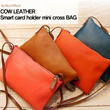 COW LEATHER【Dellastella】Check Review!Finally landed in Singapore ! korea china japan 45000pcs cumulative sales!Smart Card Holder mini cross bag_DLC13