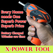 HANDHELD SCREWDRIVER POWER TOOL 3.6V LED light SUPERB handling! Order confirm upon purchase!