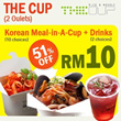 [51% OFF][Pork Free] Takeaway Korean Meal-in-A-Cup + Drinks at The Cup Rice and Noodle at Pavilionand Publika Shopping Mall