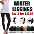 Winter Leggings {FREE DELIVERY} Special Price 3 for $10.90!  hot add fertilizer increased with velvet Leggings/thickening waist/cashmere nine Pants/very warm