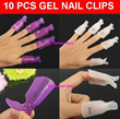 10 pcs/set Gel Nail Smart Off Clips/Smart Soak Off Clip/gel polish/acrylic/nail tips/reusable/remover/Pink Armor Nail Gel As Seen On TV Polish Remedy Fix Protective/Christmas/New Year/Valentines