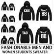 YU51[buy 2 1free shipping]New purchase! The popularity of the star (EXO / XOXO / KISS  HUG / WOLF 88 / Hoodie) in the same paragraph sweater coat ★ ★ ★ week part Mens Hoodie