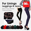 No 1 Autumn / Winter Thermal Denim Jeans Leggings Sock Inner Fibers