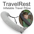 ▶Travelrest Styling <The Ultimate Inflatable Travel Pillow>◀GEB- -Easy to Use Inflate and Carry/ Suitale for Travel Airplanes Car Bus Train Camping etc...
