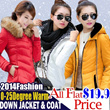 【ALL FLAT PRICE $19.8】Lowest Price High Quality! 2014 Fashion Womens Down Jacket and Coat0-25 Degree Warm