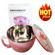 KOREAN NODDLES CUP 900 ml (bisa untuk tempat mie atau sayuran dan anti tumpah karena ada tutupnya )