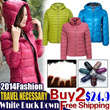 【0-25 Degree Warm 】Lowest Price High Quality! 2014 Hot Fashion White Duck Down Jacket【Buy 2 Free Shipping】