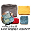 ▶4-Piece Multi Color Luggage Organizer-Travel Pouches◀GEA GBC- Light and durable 4-piece travel partition pouch set/ Free Express Delivery
