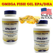 SUPER DEAL SUPPLEMENTS !!  BUY 1 OMEGA 3 FREE Vitamin C Made in USA ★ Couz-Nutri™ Omega Fish OilEPA/DHA is a high potency Omega-3 dietary complex ★ Support Heart Brain Vision health ★ Rich in EPA DHA