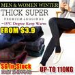 SG Delivery!Buy 3 Free Shipping! Special Price 1 for $8.9!2014Women/Men Winter Leggings/ Plus size Thermal wear/winter inner wear/-15 degree keep warm/ inner wear/Women pants/Mens pants/Women leggings