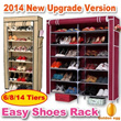 ★2014 New Upgrade Version&Free Delivery★6/8/14 Tiers High Capacity Shoes Rack/Space Saving