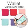 ▶Korea Styling Crown Mini Wallet◀GBC- Cute n Sweet Candy Color Purse/Crown Zipper Wallet Handbag / Clutch Bag / Mini Bag / 5 colors
